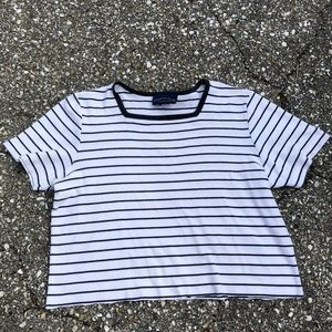 Vintage square neck cropped t-shirt